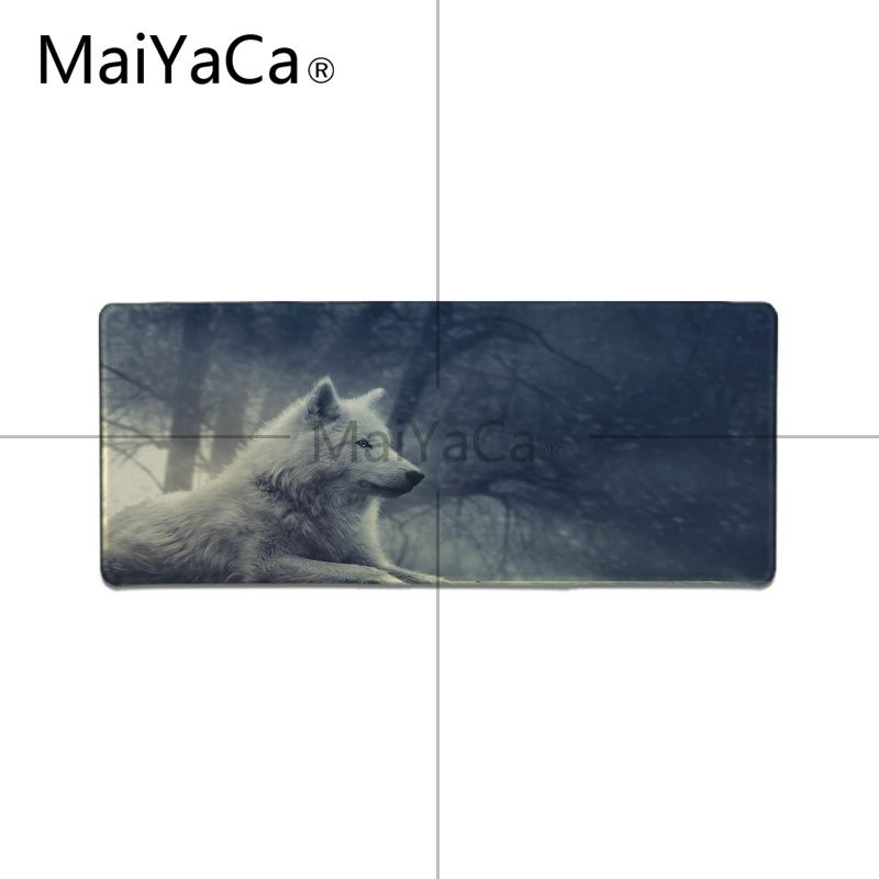 MaiYaCa My Favorite Black and white Wolf High Speed New Mousepad Large Gaming Mouse Pad Lockedge Mouse Mat Keyboard Pad