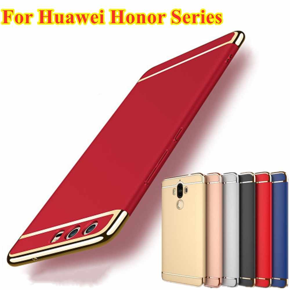 Luxury Gold Hard Case For Huawei P20 P30 P10 Mate 10 20 Lite V10 Nova Cover Removable 3 in 1 Fundas Coque For Honor 8 9 10 lite