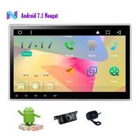 Камера + 2 din Android 7,1 автомобильный стерео gps 10,1 ''автомобильный dvd плеер в тире головное устройство радио приемник Поддержка WiFi/Bluetooth/сабвуфер