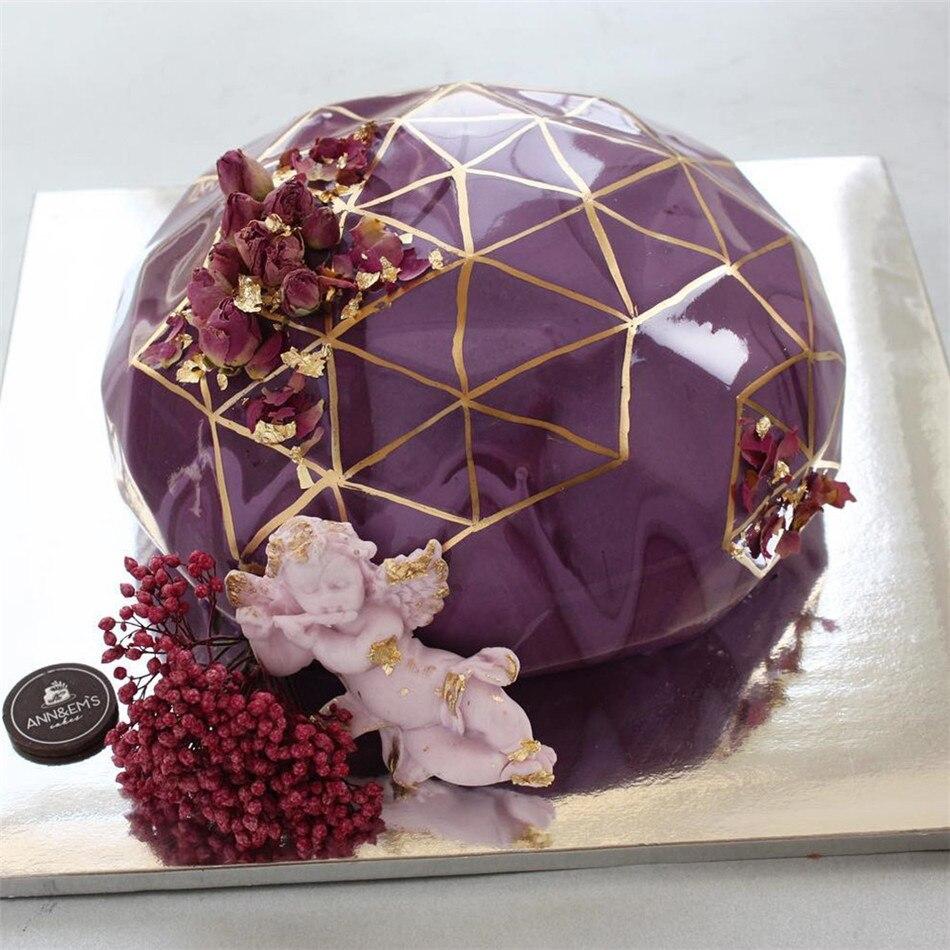 VOGVIGO Diamond Shape Silicone Cake Mold Chocolate Mousse Tools Tray Confectionery Dessert Baking Dish Fondant Pudding Bakeware