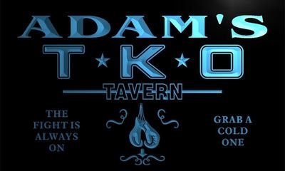 x0069-tm Adams T.K.O. Tavern UFC Custom Personalized Name Neon Sign Wholesale Dropshipping On/Off Switch 7 Colors DHL