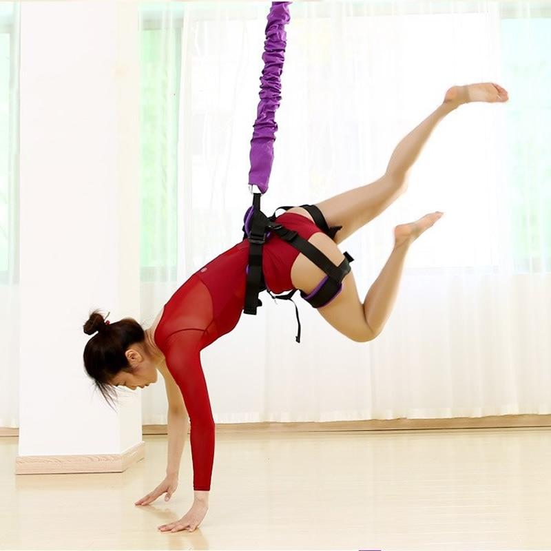 New Bungee Danse Voler Corde Aérienne Anti-gravité Yoga Résistance Band Set Entraînement de Fitness À Domicile Équipement DE GYMNASTIQUE 40- 120 kg pour Option