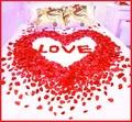 Barato 2000 pçs/lote Decorações De Casamento Por Atacado Nova Do Casamento de Rosa Pétalas de Flores Artificiais de Poliéster Natal 2017 China