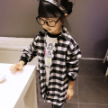 Boys and Girls Toddler Kids Long Sleeve Tee Shirts Plaids Checks Clothes 2-7Y