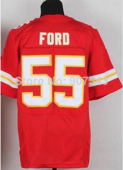 #55 Dee Ford Jersey,Elite Football Jersey,Best quality,Authentic Jersey,Embroidery Logo,Size M--3XL,Can Mix Order