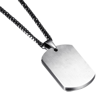 Engraved Mens Medical Alert ID Dog Tag Necklace Pendant Stainless Steel 2