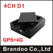 4CH Channel Car Mobile DVR 4G Wireless GPS Realtime Video Recorder For Bus Truck