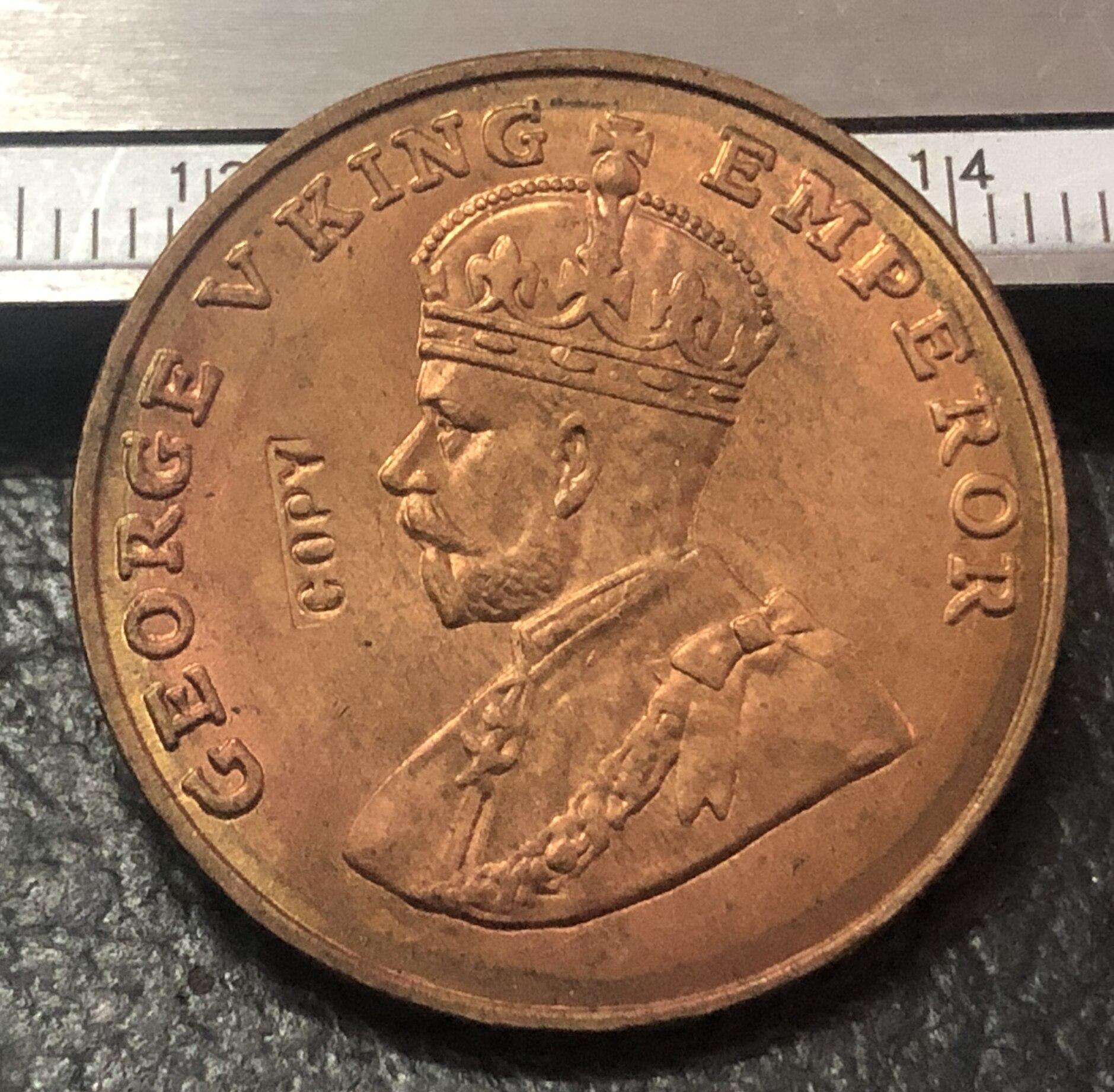 1920 Индия-британский 8 аннас-Джордж V медь-никель имитация монеты