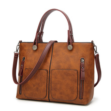 Tinkin Drop shipping Vintage PU Shoulder Bag Female Causal Totes for Daily Shopping All-Purpose High Quality Dames Tassen