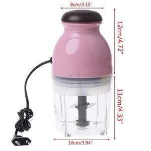 Image 5 - مفرمة اللحم الكهربائية الصغيرة منتج أغذية خلاط فواكه الخضروات المروحية 600 مللي