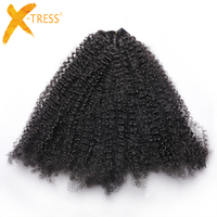 X TRESS Synthetic Afro Kinky Curly Hair Extensions Crochet Braids Heat Resistance Afro Hair Weaving 10