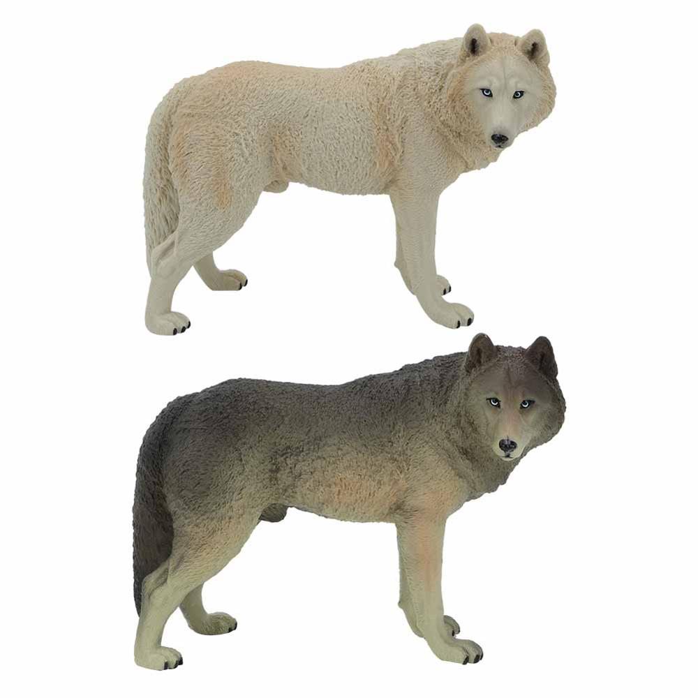 Large Wolf Statue Figurine Toy PVC Wildlife Animal Model Action Figures Playset for Kids