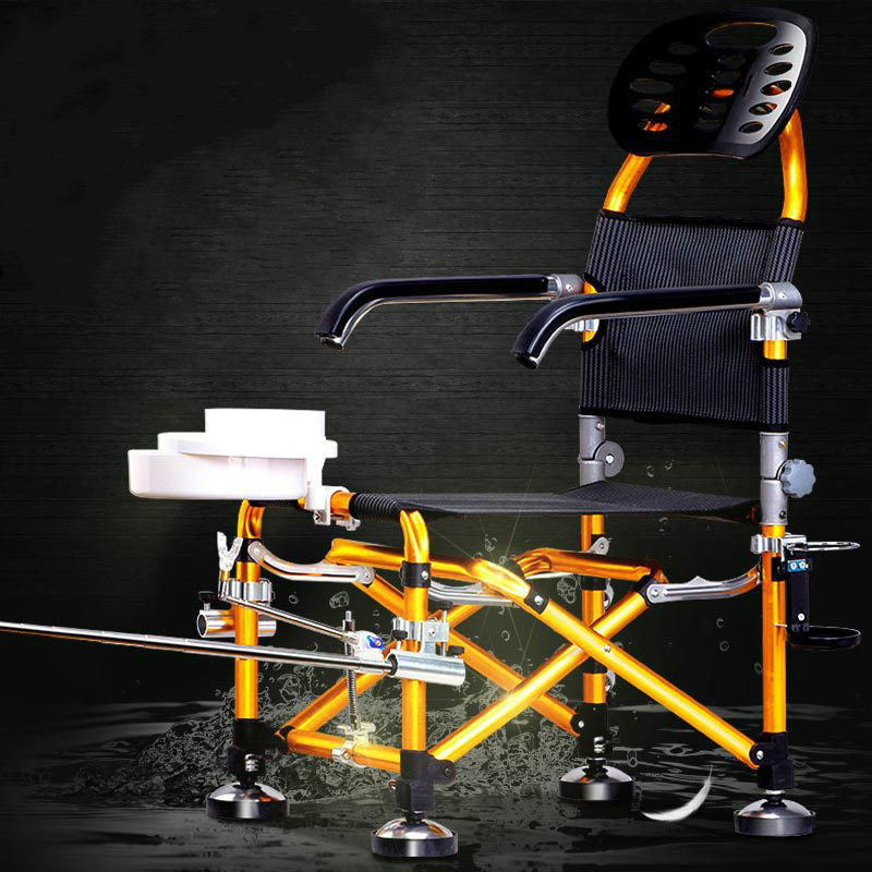 Russia High quality outdoor multifunctional fishing chair folding Aluminum Alloy Fort Liftable camping folding fish table chairs outdoor traveling camping tripod folding stool chair foldable fishing chairs portable fishing mate fold metal chair