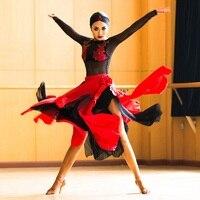 Латинские платья женщин латинские танцы платье Латинской Сала платье Испанский костюм современный Танцевальный костюм Одежда для танцев ф