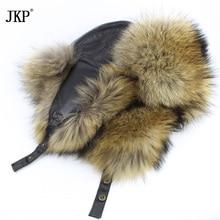 スター男性の毛皮の帽子 2020 本物のフォックスファースキンメープル本雷鋒男性の爆撃機帽子冬の本革ロシアトップ HJL 08