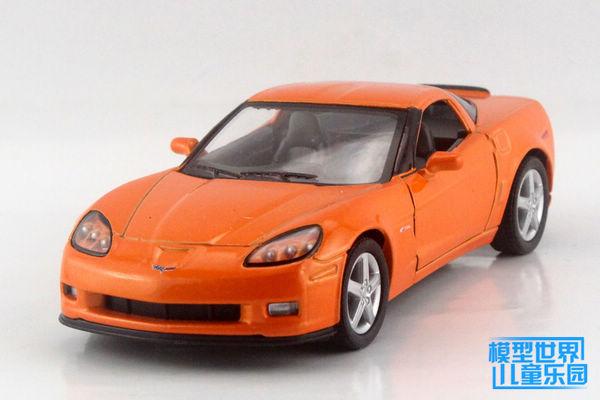 1 unid 12.5 cm Kinsmart aleación juguetes del coche modelo 1:36 Chevrolet Corvette Z06 regalos