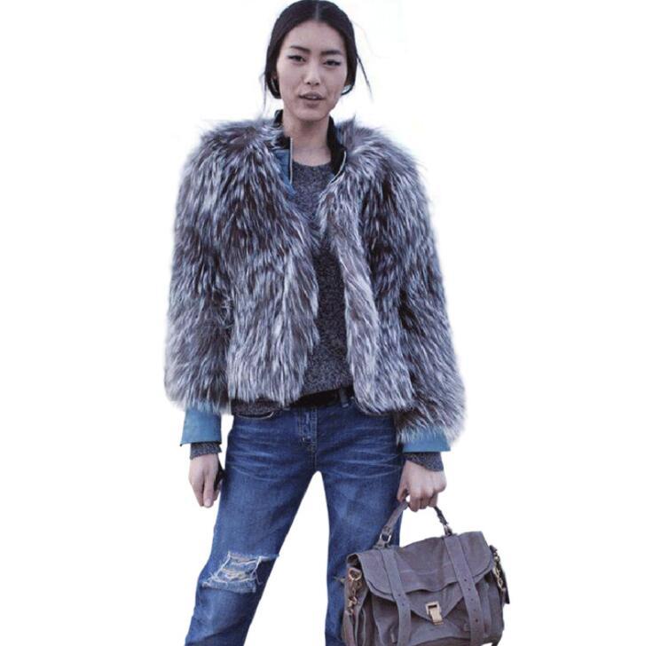 En Vison Vestes Europen Mode Épaissir Manteau Slim Veste Faux z1qgExgn