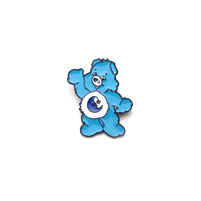 V129 Perawatan Beruang Lucu Logam Enamel Pin dan Bros untuk Wanita Fashion Kerah Pin Tas Ransel Lencana Koleksi Hadiah