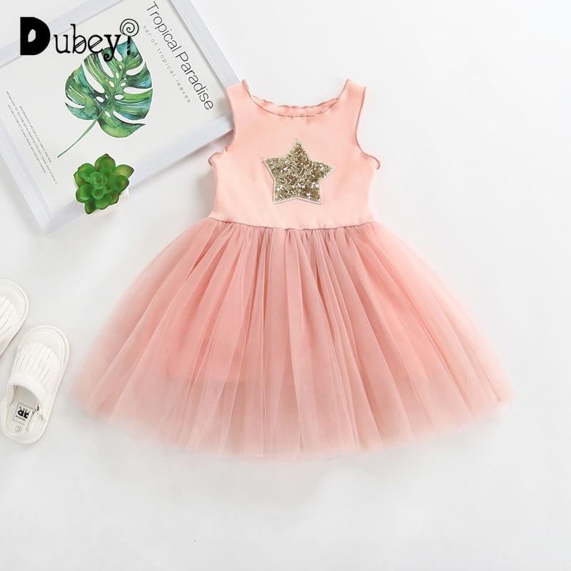 Pailletten Sterne Ärmellose Prinzessin Kleid Baby Mädchen Sommer Kleidung Kleine Mädchen Kleidung Kleinkind und Baby Mädchen Weste Sommerkleid