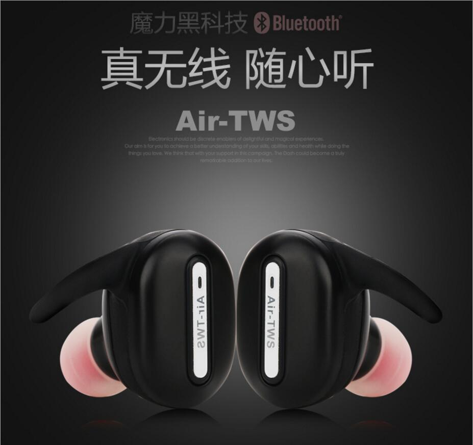 Free shipping New T03tws wireless Bluetooth headset driving sports running earbuds binaural stereo bluetooth earphone fw1s 2016 new arrival q9 wireless bluetooth 4 1 stereo earphone sport running studio free shipping