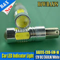 2 unids/lote Canbus BAX9S H6W LED Proyector Lente Lado Inverso/Parking Bombilla BAX9S AC12V COB Blanco Fit For VW
