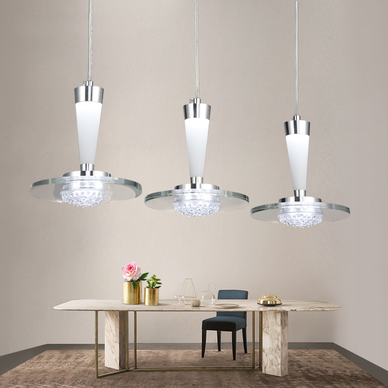 Modern 3 Head Led Restaurant Hanging Lamp Dia35cm H185cm Pendant Lights For