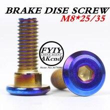 M8 * 25/30 boulon de disque de frein Dirt pit bike moto tout terrain Kayo160 t8 ph petit fier C dégoûts plat vis Motocross