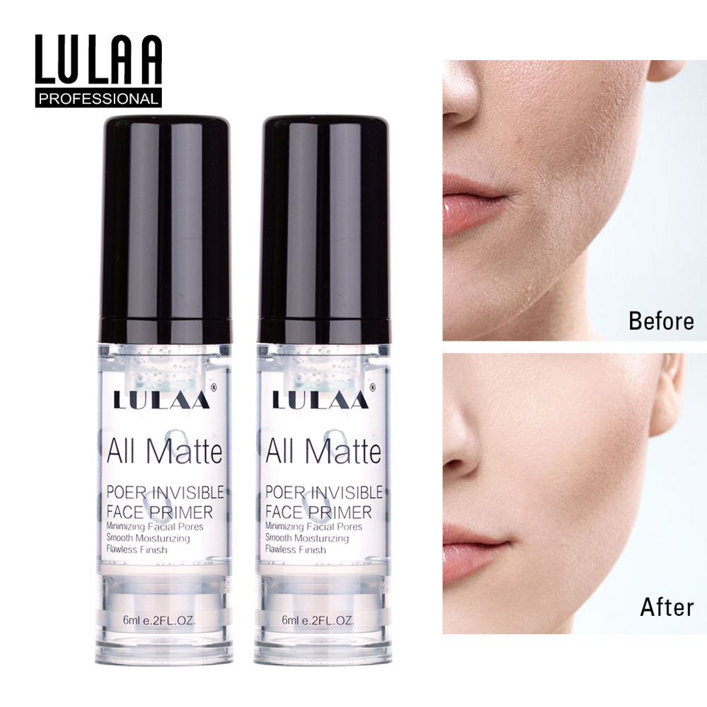 LULAA Matte Primer Make Up Base Foundation Liquid Make Up Fine Lines Oil-control Facial Primer Cream Brighten Cosmetics