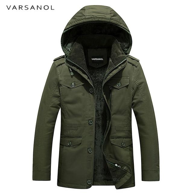Varsanol Brand Mens Winter Jackets Zipper Thick Jacket Men Coat With