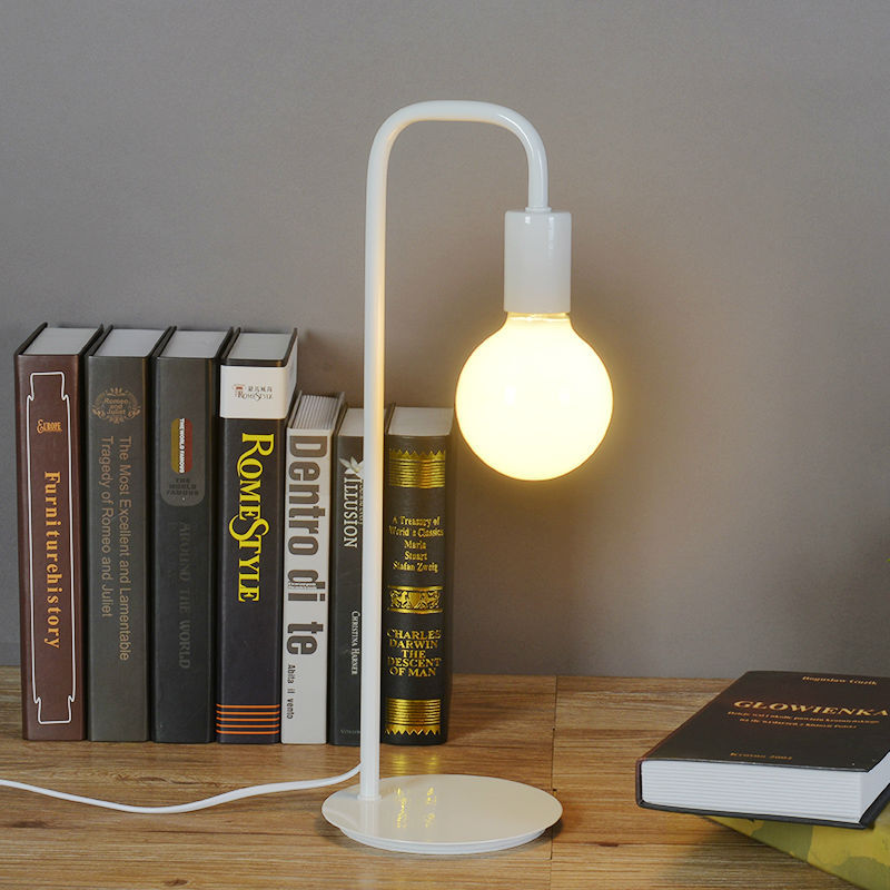 ФОТО Desk Lamps Bedroom Bedside Reading Table Lamp Night Lighting Children Learning Light Simple Fashion Iron Metal Paint Process