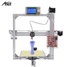 Auto Level Anet A2 Metal LCD12864/LCD2004 220*220*220mm/220*270*220mm Option Prusa i3 3d Printer DIY Kit with 2 Rolls Filaments