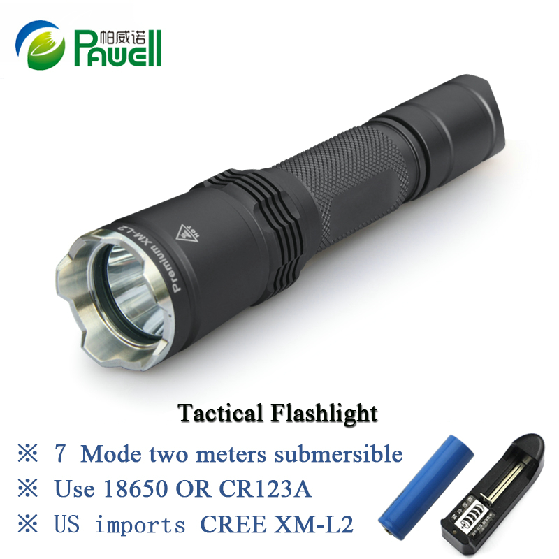 Tactical Flashlight Cree Led Torch Xm-l2 Linternas Waterproof Ipx-8 7 Mode Cr123a Or 18650 Rechargeable Battery Lights latarka 7 mode tactical flashlight cree led linternas xm l2 torch ipx 8 waterproof cr123a or 18650 rechargeable battery hunting lights