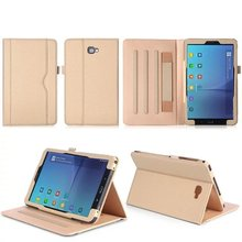 New Business Fashion For Samsung Galaxy Tab A 10.1 2016 SM-T580 T580N T585 Tablet Leather Case Hand Stand Holder with Card Slot