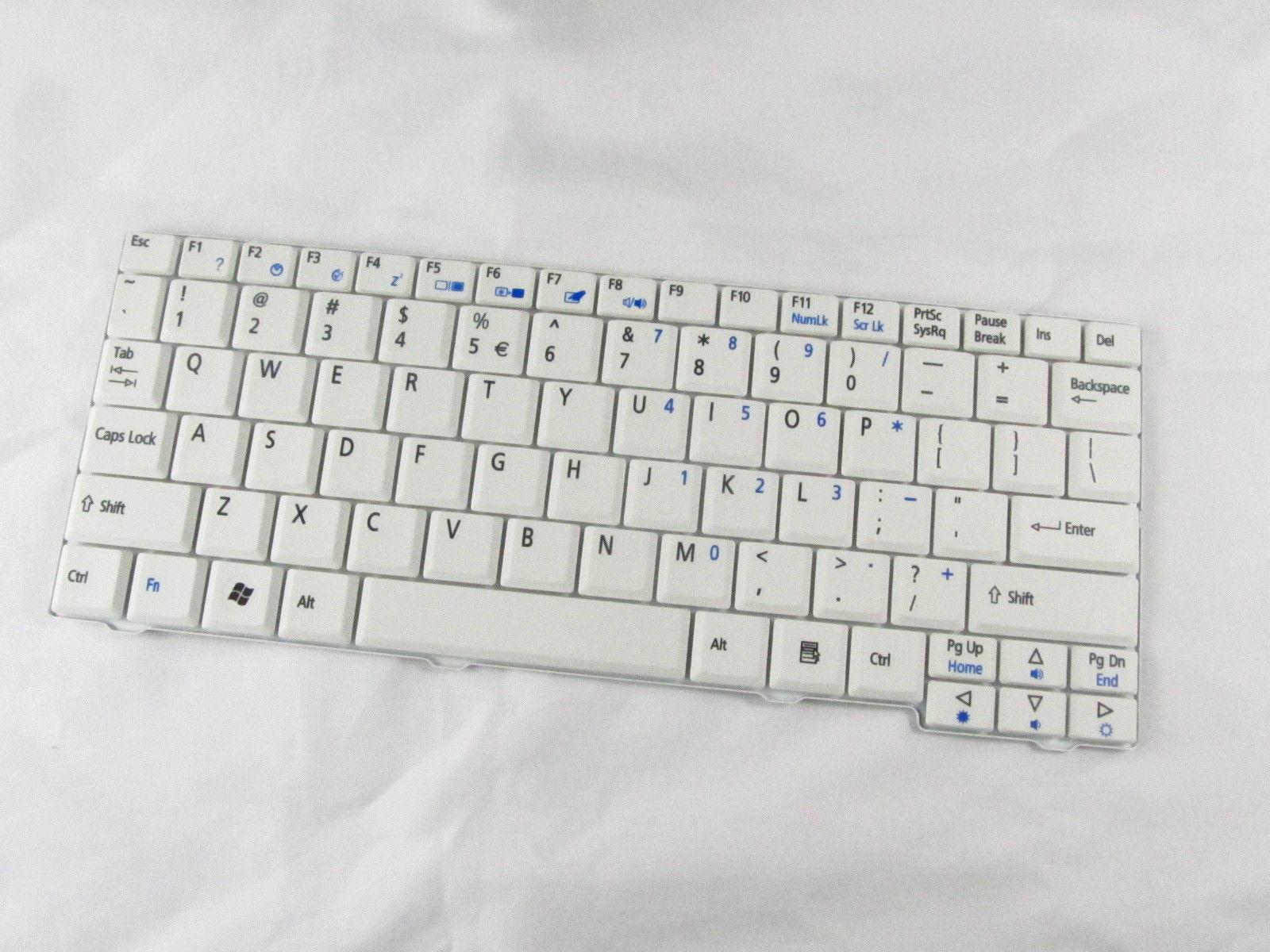 Для acer Aspire One ZG5 ZG6 ZA8 ZG8 KAV10 KAV60 серии ноутбук США белая клавиатура