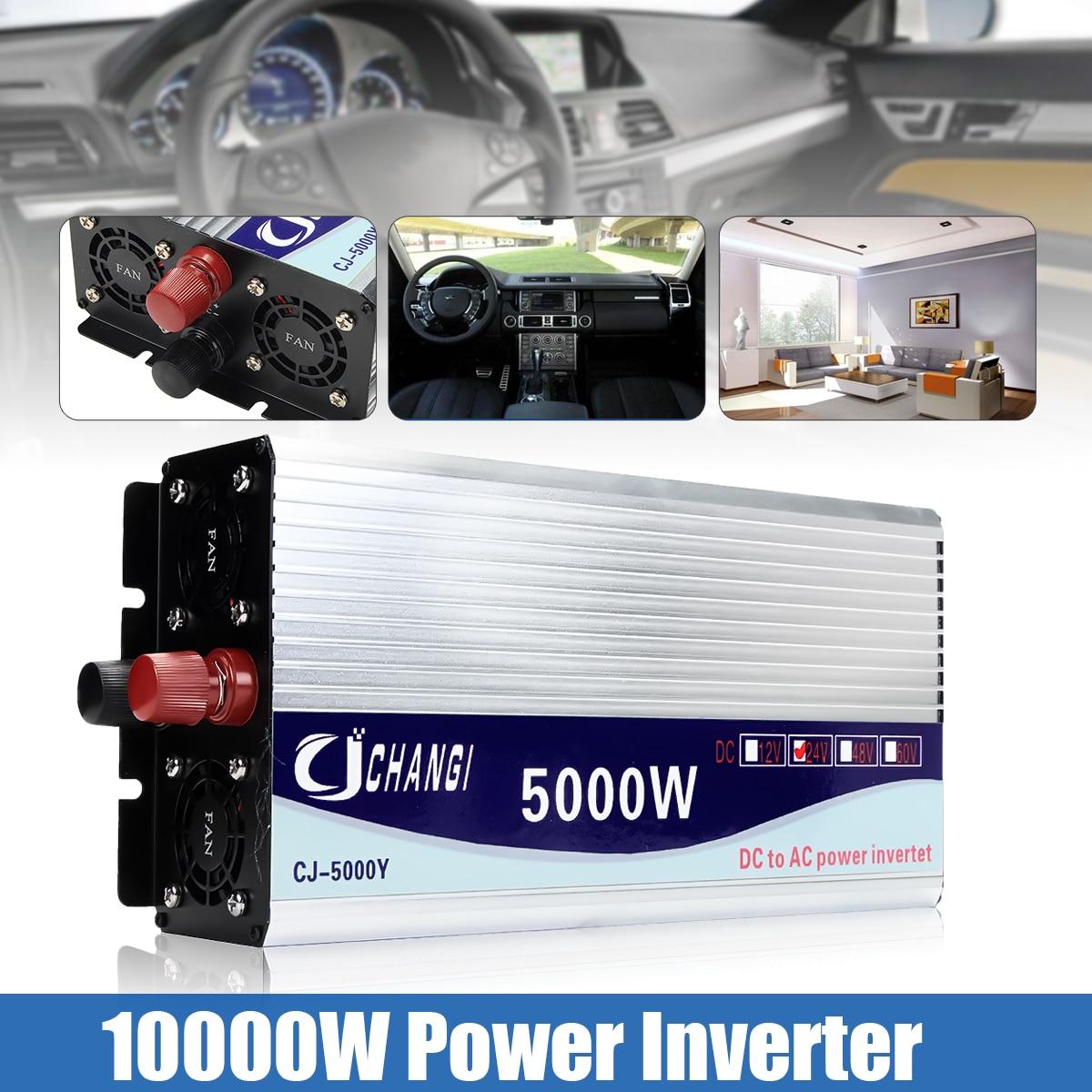 Инвертор 12 В/24 В/48 В 220 В 5000 Вт 10000 Вт P ЕАК Модифицированная синусоида Трансформатор напряжения тока преобразователь + ЖК-дисплей дисплей