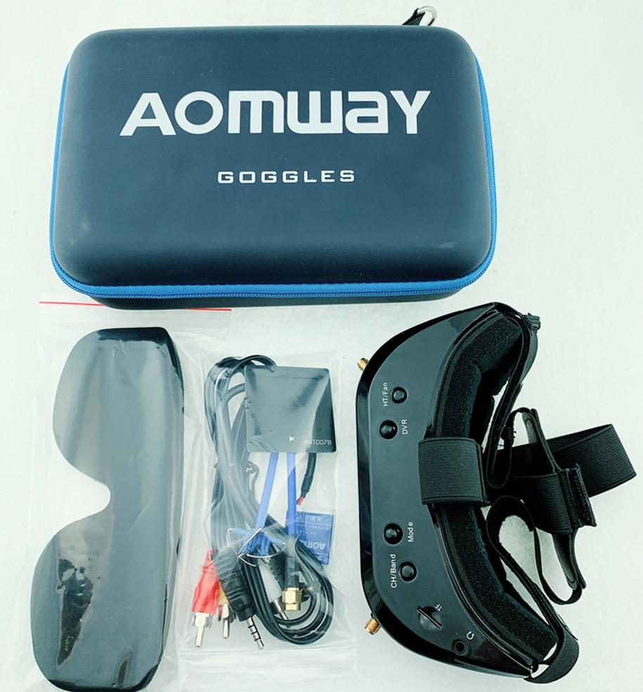 2019 nouveau Aomway Commander lunettes V1S 2D 3D 64CH 5.8G FPV casque vidéo prise en charge HDMI 720p DVR Headtracker à la place V1 v2