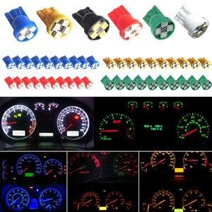 10pcs Universal Car Interior LED Light T10 4-SMD Auto Side Wedge Gauge Dashboard Instrument Lamp Bulb