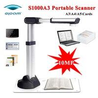 Nuevo Eloam S1000A3 10MP 3648*2736 portátil plegable A3 escáner de documentos cámara USB de alta velocidad escáner de foto A3 A4 A5 HD Cam escáner