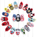 Newest I LOVE MON I LOVE DAD First Shoes Fashion Cartoon Baby Shoes Vintage Cotton Kids Shoes