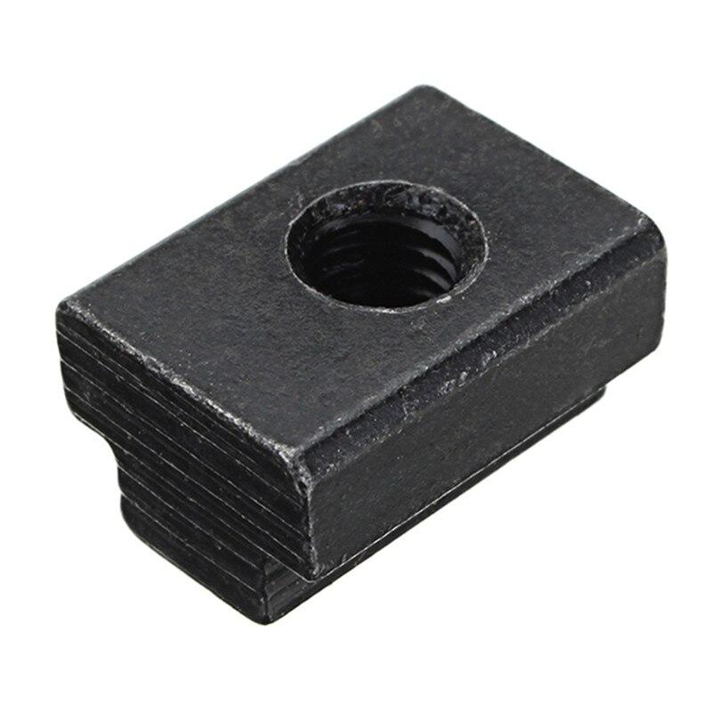 10pcs M6 T Slot Nuts Set Black Oxide Finish T-slots Nut For Track