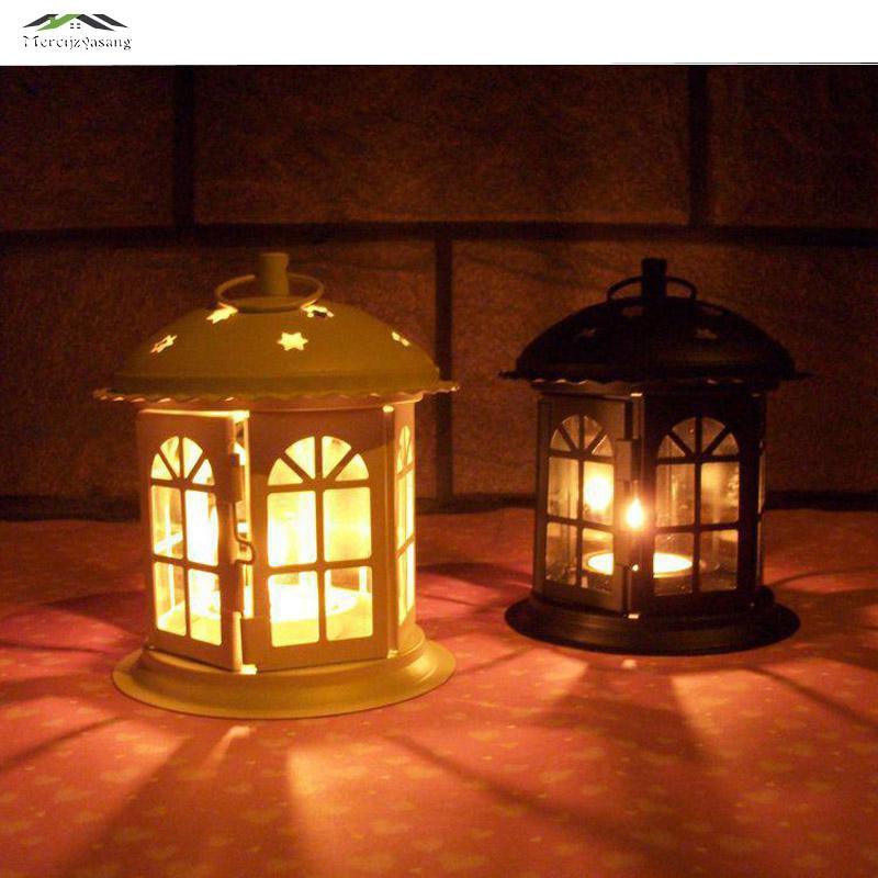 Gabbia di Uccello di metallo Supporto di Candela di Nozze Lanterna Marocco Vintage Piccole Lanterne Per Le Candele Gabbie Decorative Marocchino Lampada 020