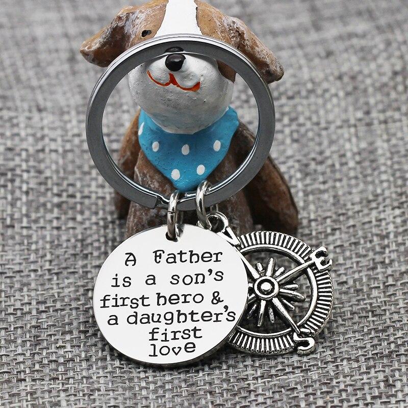 Xiaojingling отец сын первый Herp и дочери первый любовь брелок круглый и Компасы брелок день отцов брелок