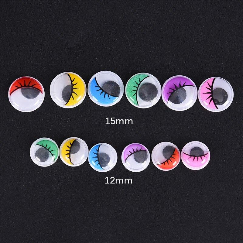 100 Pcs Coloured Eyelashes Wiggly Wobbly Googly Eyes Lash For DIY Craft Decor Multicolor Eyelashes Component
