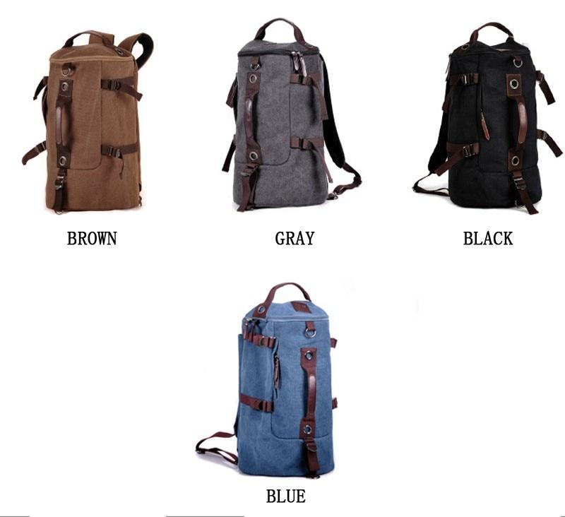 Men's Multi-Functional Backpack Vintage Shoulder Bag High Quality Canvas Male Bagpack Rucksack Travel Luggage for Weekend 8