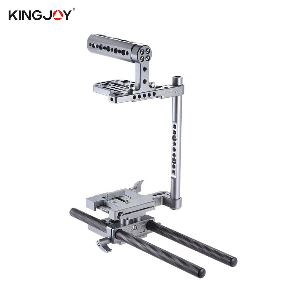 KINGJOY KH 6820 Camera Cage Rig +Handheld Grip+15mm Rail Rod for Sony A7 Series Nikon Canon 5D mark II for BMCC BMPCCameras