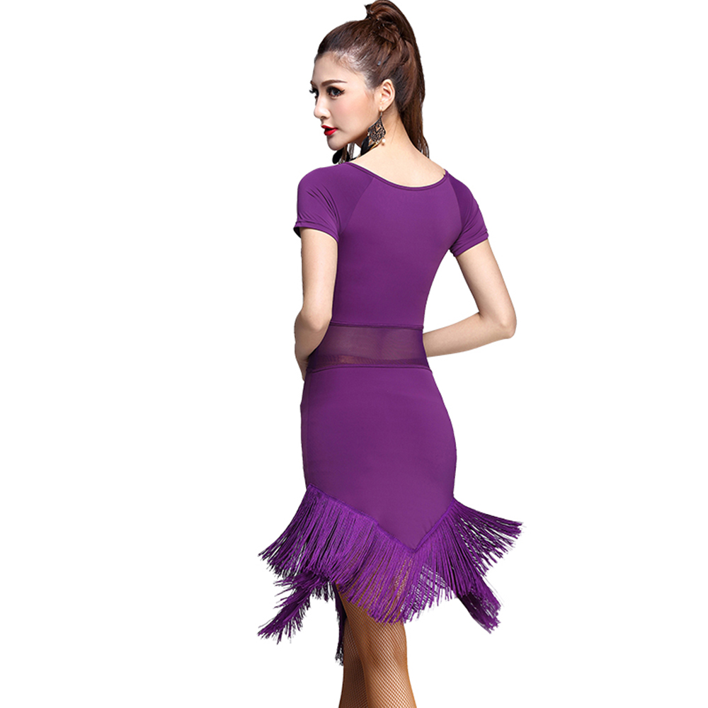 2018 mujeres atractivas Latino danza vestido de seda del hielo ...
