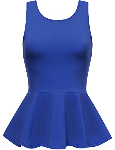 009ffed8ea017 Customized New Fashion Women s Plain Stretchy Sleeveless Peplum Top Ladies  Deep V Back Ruffles Top (3XS 7XL)-in Tank Tops from Women s Clothing on ...