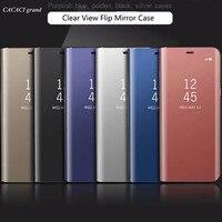 For Samsung A3 2017 A5 2017 A7 2017 A320 A520 A720 Clear View Mirror Flip Case