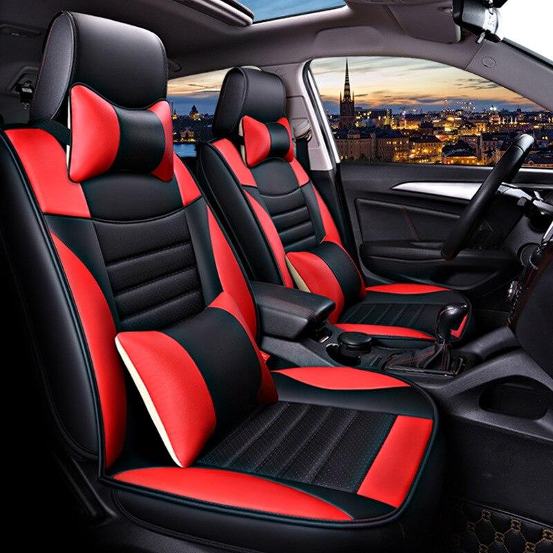 (Avant + arrière) housse de siège de voiture en cuir de luxe pour Mitsubishi lancer 9 10 x ix outlander 3 xl de 2010 2009 2008 2007