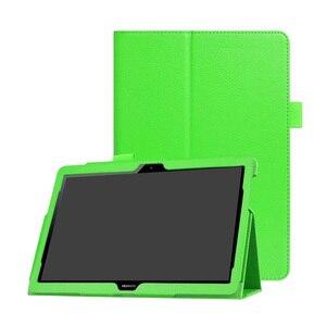 Image 3 - 30 Cái/lốc Đối Với Huawei T3 10 Lật Đứng Vải PU Bìa Case Cho Huawei Mediapad T3 10 Tablet 9.6